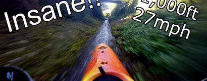 Insane Kayakers Slide Down 1000ft Slide!